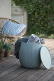 Keter Urban Knit Pouf Set, Dune/Misty Blue_